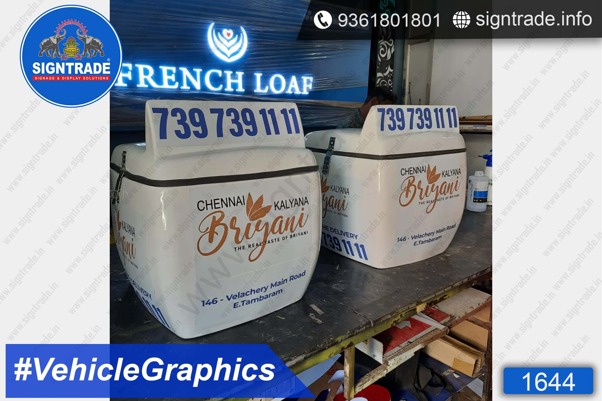 Chennai Kalyana Briyani, Chennai - SIGNTRADE - Vinyl Printing, Bike Graphics Service in Chennai