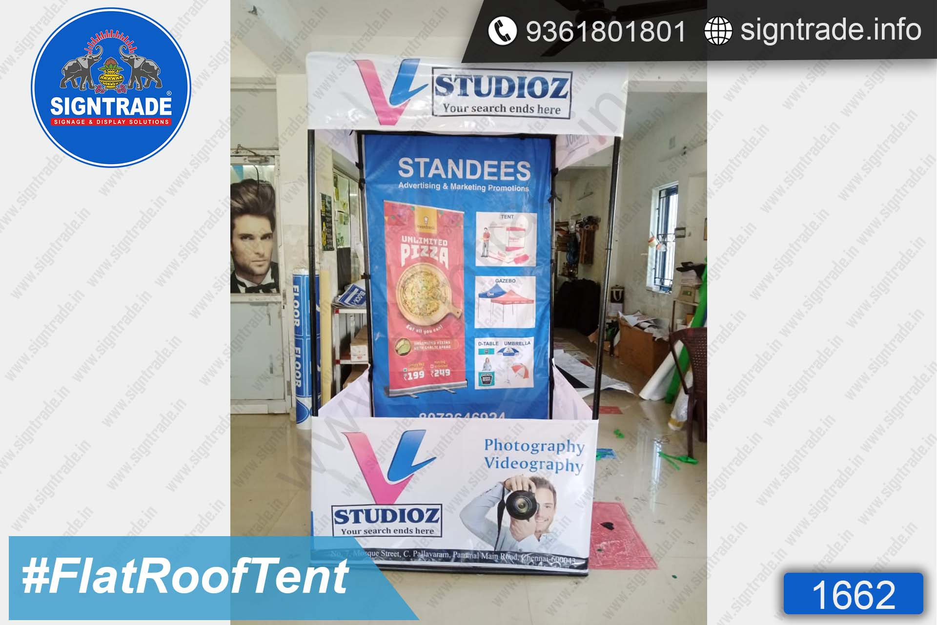 V Studioz - Canopy Tent - SIGNTRADE - Promotional Canopy Tent Manufacturers in Chennai