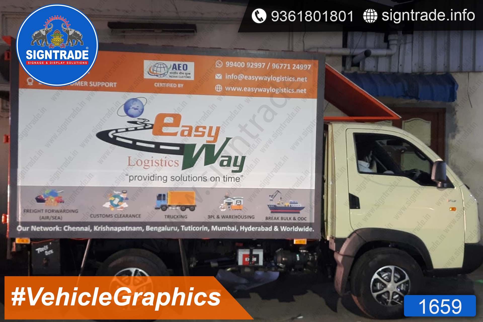 EasyWay Logistics, Chennai - SIGNTRADE - Vinyl Printing, Van Graphics Service in Chennai