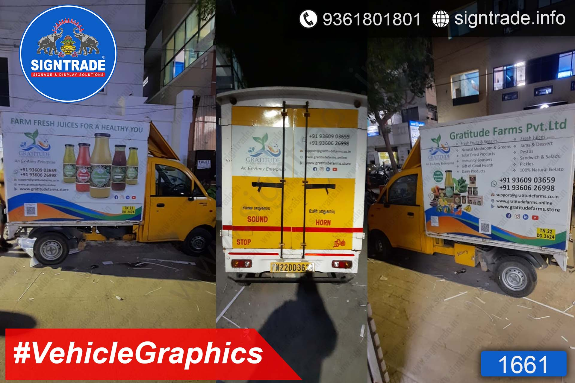Gratitude Farms Private Limited, Chennai - SIGNTRADE - Vinyl Printing, Van Graphics Service in Chennai