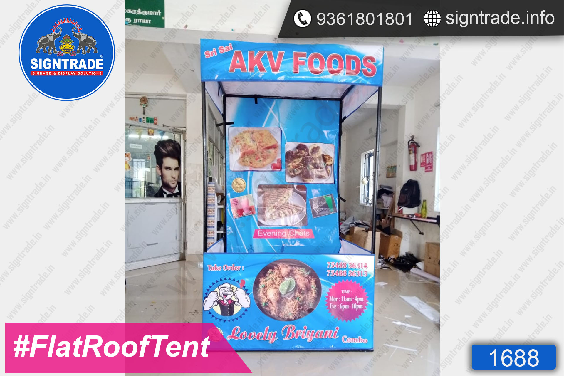 AKV Foods - Lovely Biryani - Canopy Tent - SIGNTRADE - Promotional Canopy Tent Manufacturers in Chennai