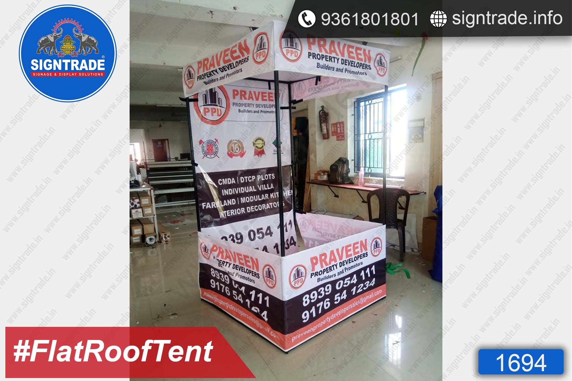 Praveen Property Developers - Canopy Tent - SIGNTRADE - Promotional Canopy Tent Manufacturers in Chennai