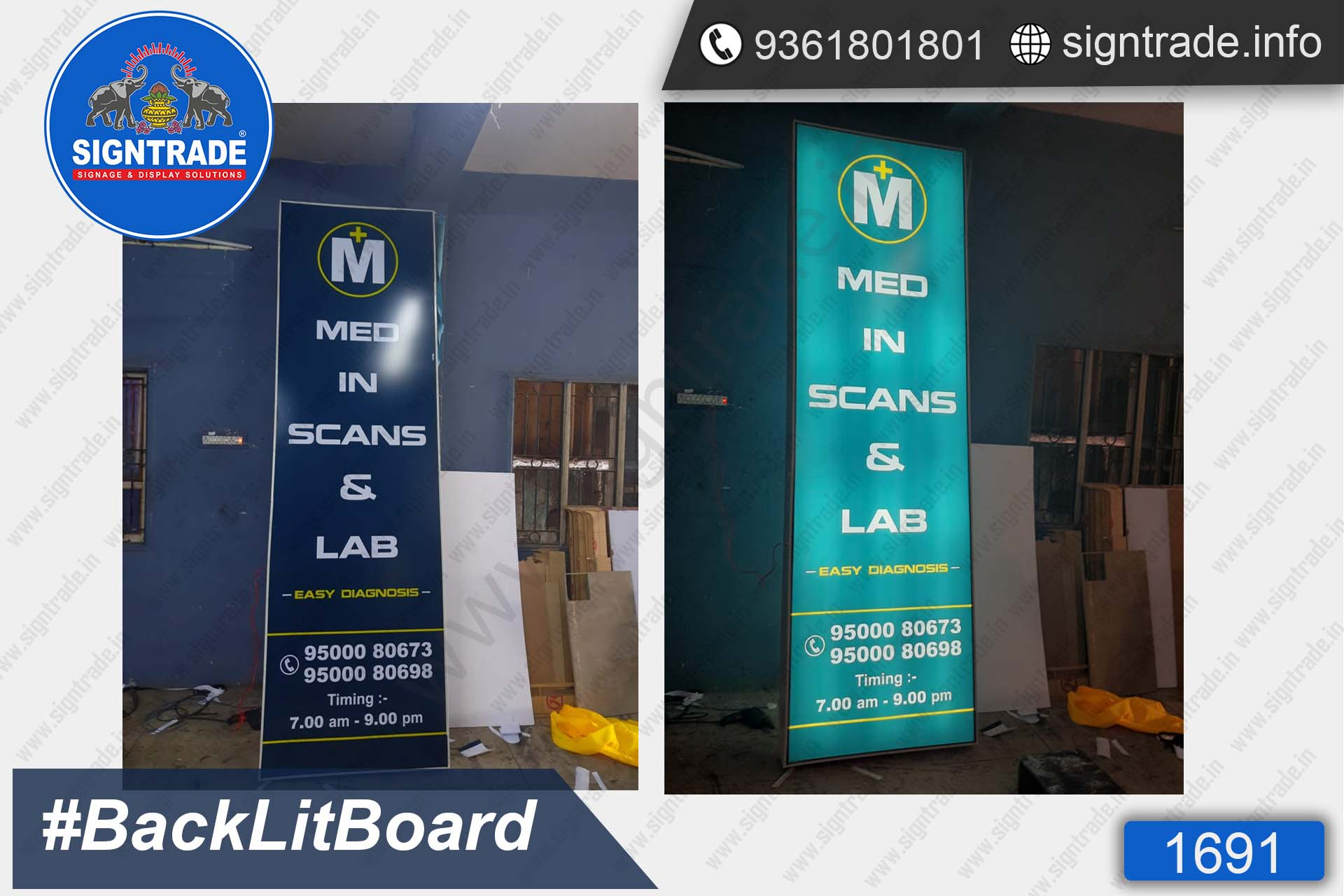 MED in Scans & Lab, Chennai - SIGNTRADE - Backlit Board Manufacturers in Chennai