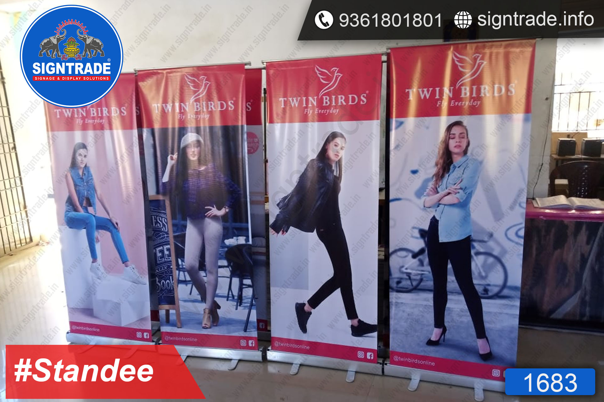 Twin Birds, Chennai - Banner Stand - SIGNTRADE - Rollup Banner Stand Manufactures in Chennai