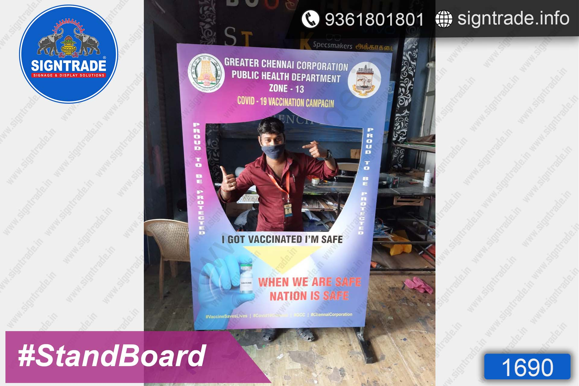 Greater Chennai Corporation - SIGNTRADE - Custom Stand Up Flex Board - Digital Printing Services in Chennai