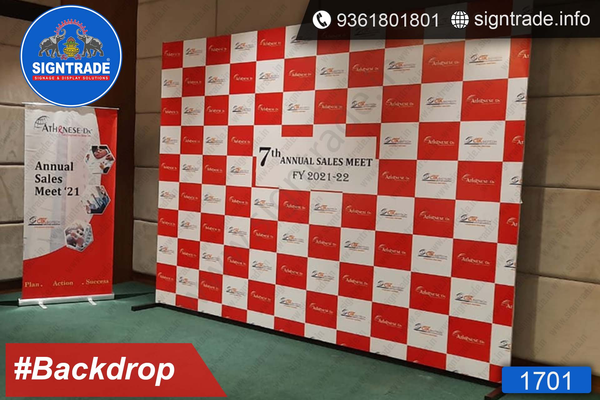 Atanese, Chennai - Backdrop, Rollup Banner Stand - SIGNTRADE - Backdrop, Rollup Banner Stand Manufactures in Chennai