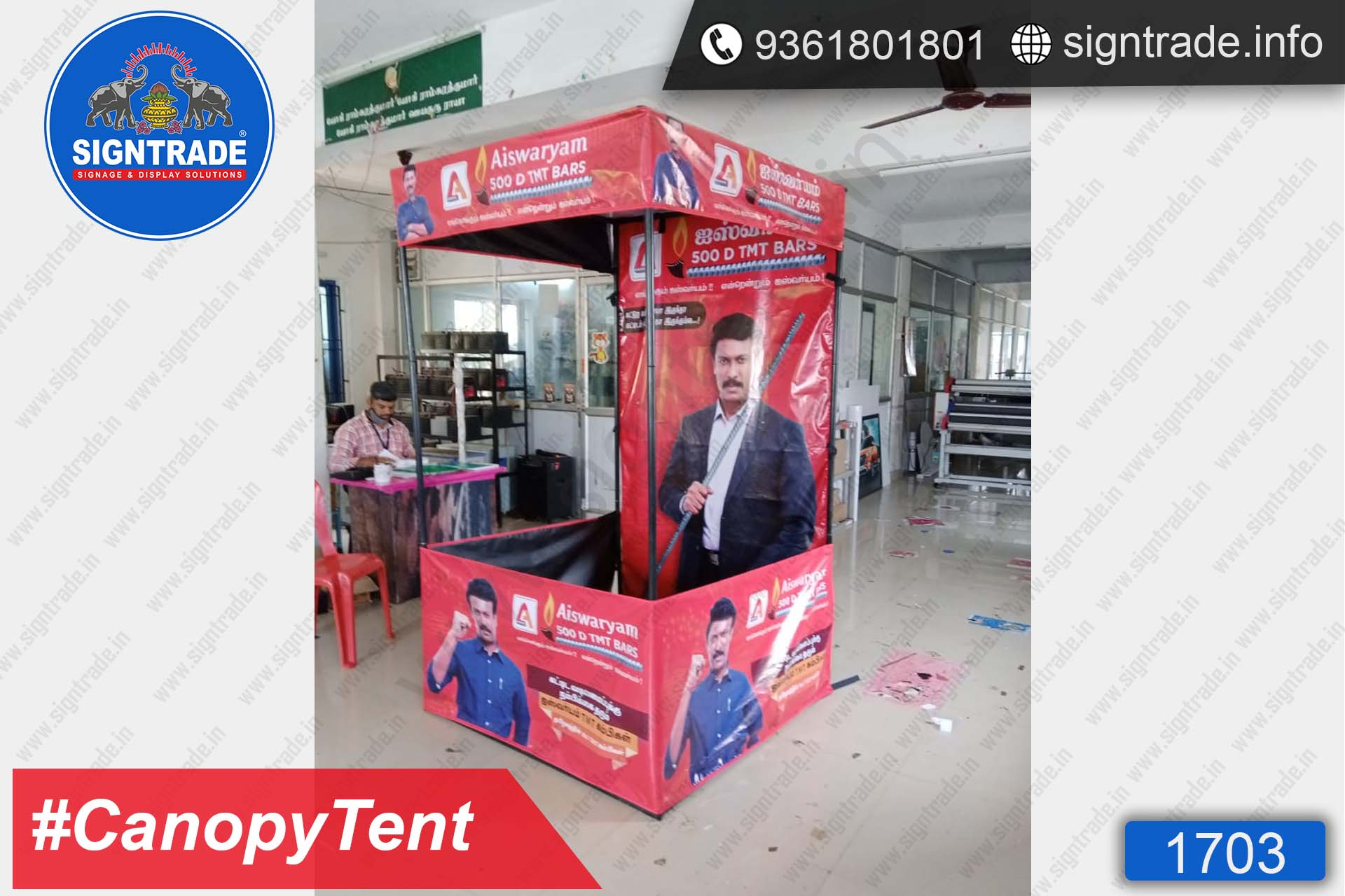 Aiswaryam 500D TMT Bars - Canopy Tent - SIGNTRADE - Promotional Canopy Tent Manufacturers in Chennai