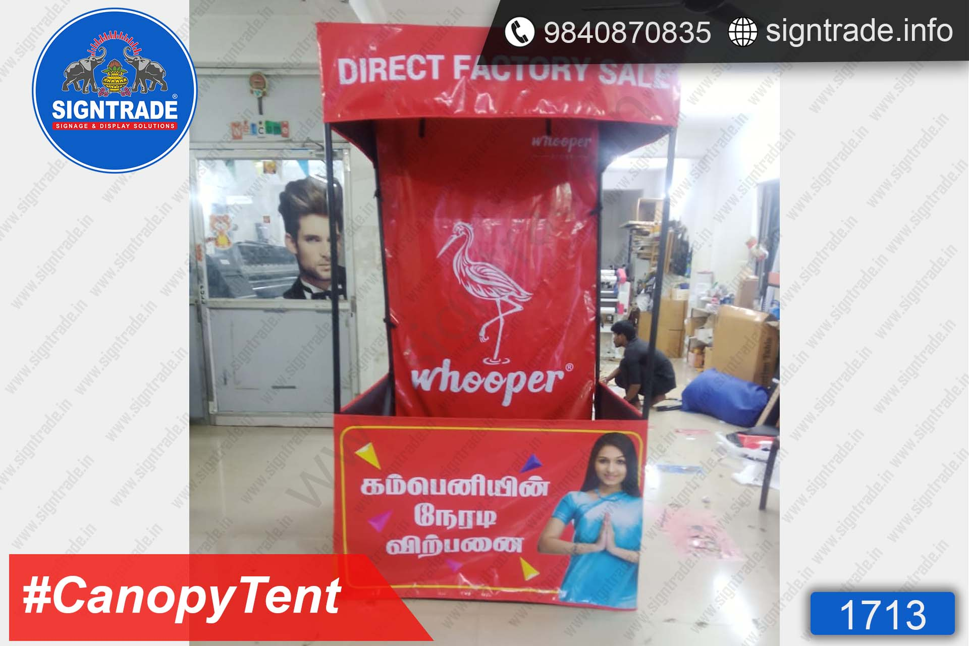 Whooper - Canopy Tent - SIGNTRADE - Promotional Canopy Tent Manufacturers in Chennai
