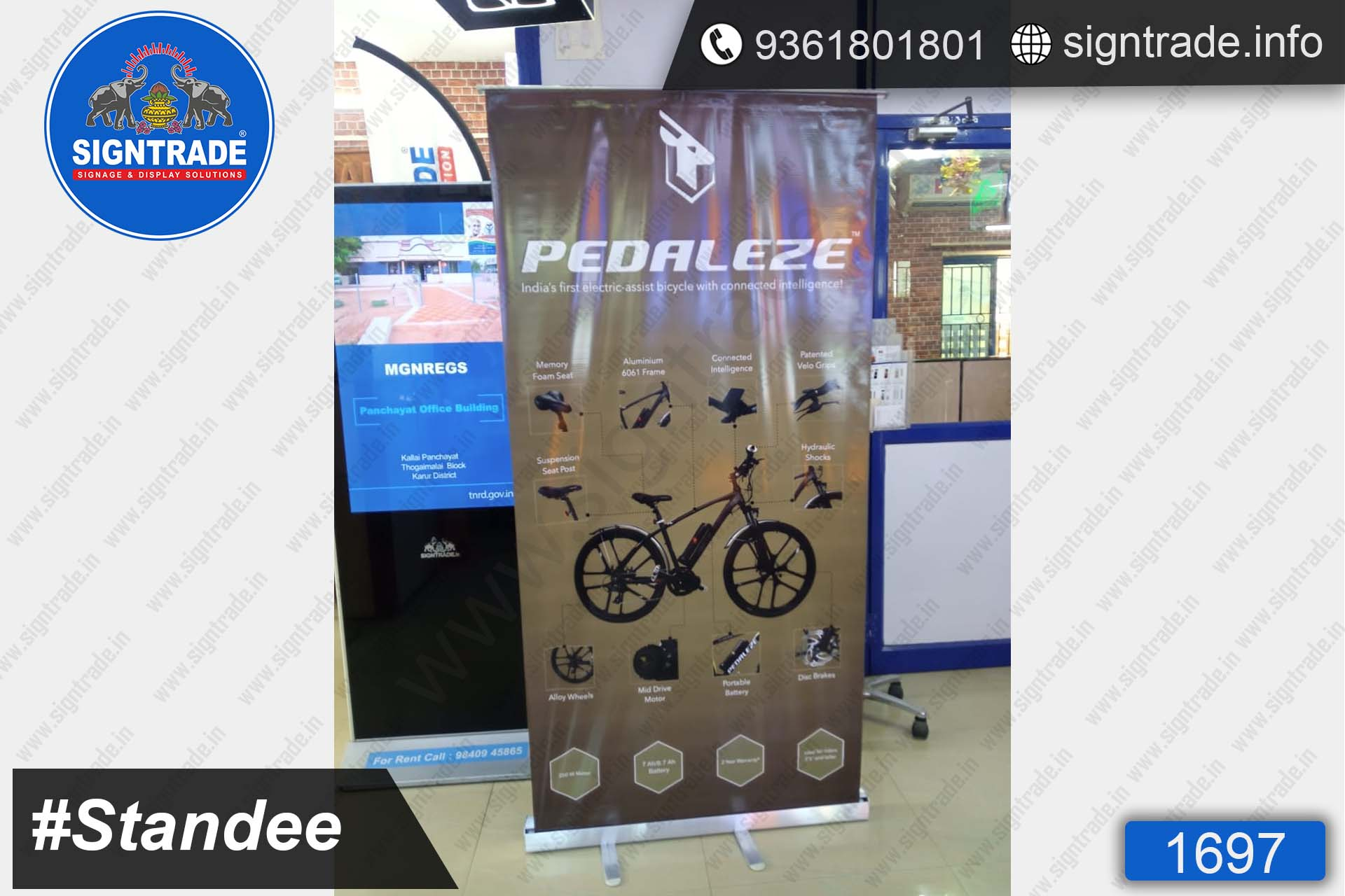PEDALEZE, Chennai - Banner Stand - SIGNTRADE - Rollup Banner Stand Manufactures in Chennai