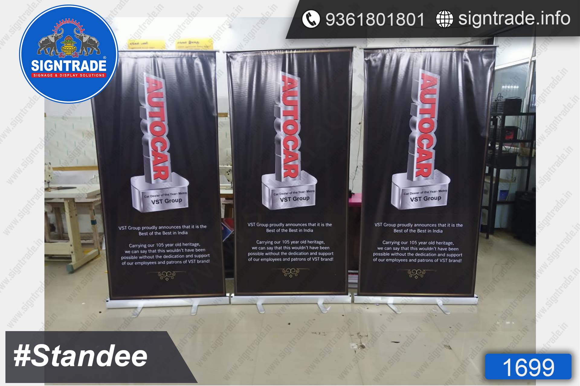Autocar, VST Group, Chennai - Banner Stand - SIGNTRADE - Rollup Banner Stand Manufactures in Chennai