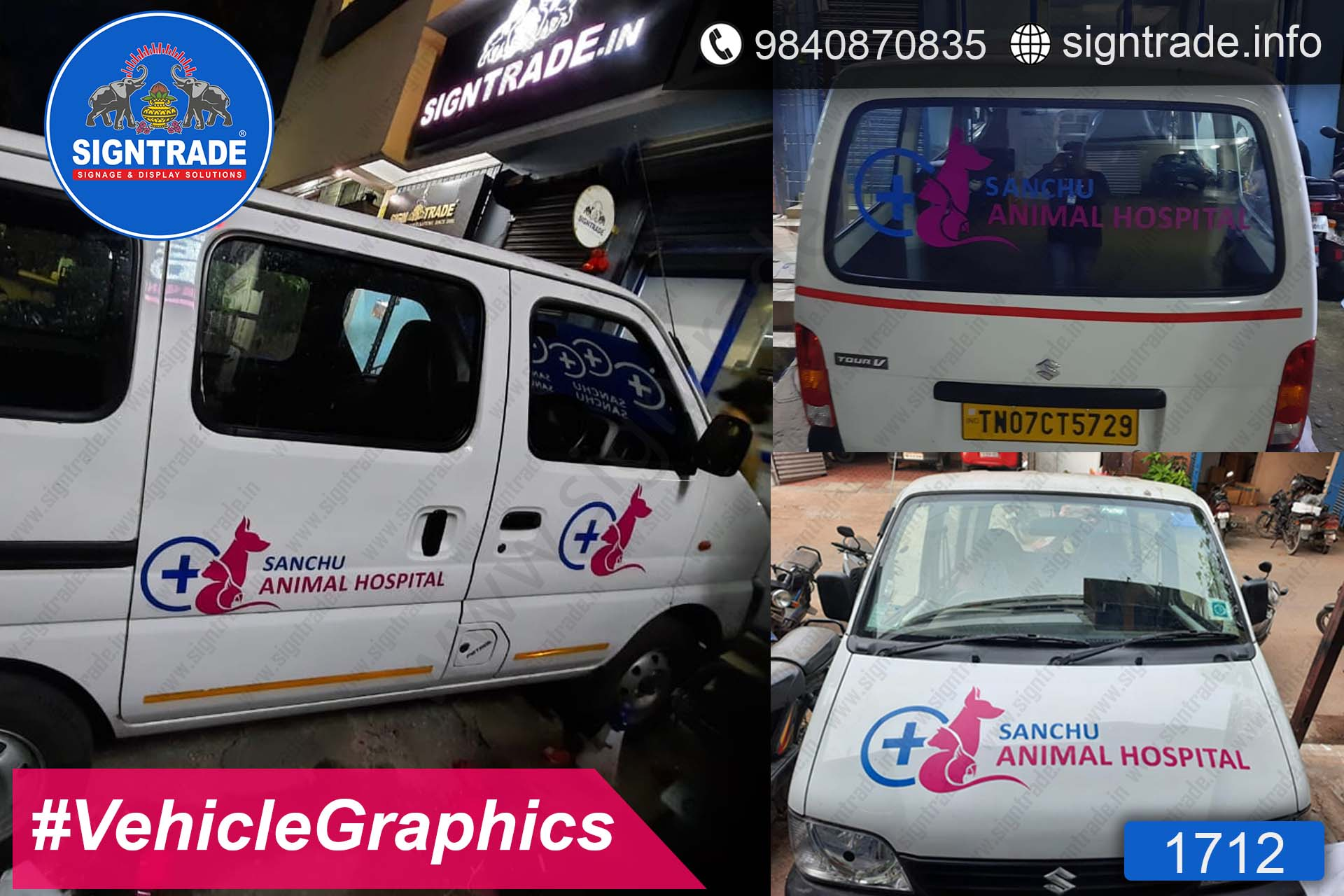 Sanchu Animal Hospital, Chennai - SIGNTRADE - Vinyl Printing, Vehicle Graphics Service in Chennai