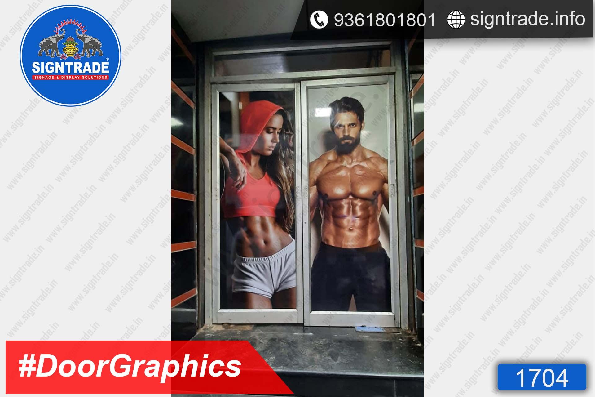Body Focus Gym, Chennai - SIGNTRADE - Door Graphics, Vinyl Printing, Digital Printing Service in Chennai