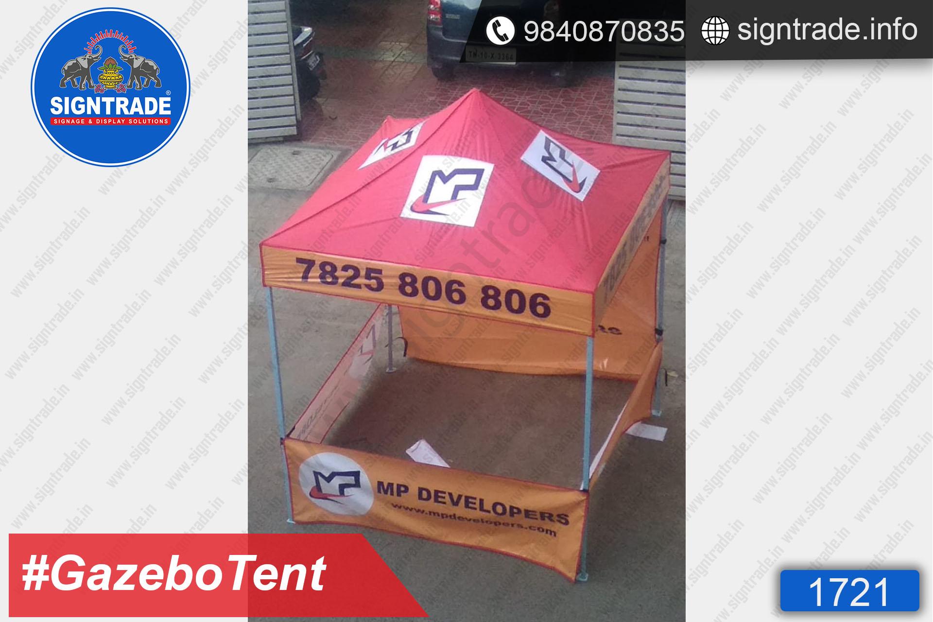 MP Developers - Gazebo Tent - SIGNTRADE - Promotional Gazebo Tent Manufacturers in Chennai