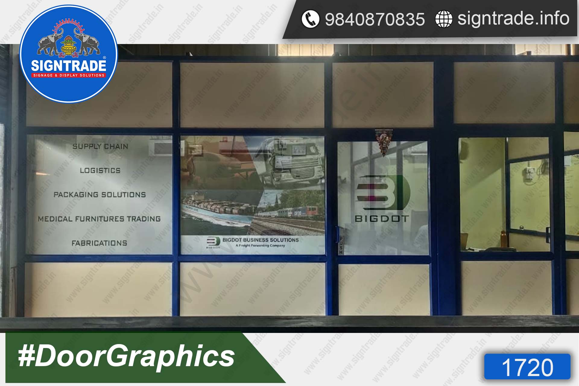 BIGDOT Business solutions, Chennai - SIGNTRADE - Door Graphics, Vinyl Printing, Digital Printing Service in Chennai